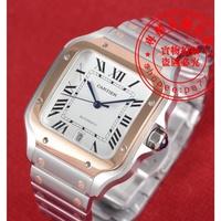 CARTIER山度士,卡地亞山度士Santos系列,精鋼錶殼,K金錶圈,方形錶殼,個性獨特,穿錶帶結構
