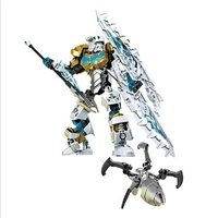 Bionicle Mask of Light Children's Kopaka Master Of ICE Bionicle Building Block Figures Toys compatible Lepine