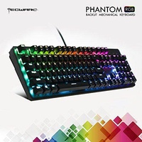 TECWARE Phantom 104 Mechanical Keyboard, RGB LED, Outemu Brown Switch, Extra Switches Provided, Excellent for Gamers