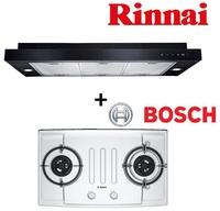 RINNAI RH-S319-PBR-T SLIMLINE HOOD + BOSCH PBD7251SG 2 BURNER STAINLESS STEEL HOB (CITYGAS)