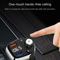 V5.0 Fast Charging Bluetooth FM Transmitter Receiver Car Charger Dual USB Ports