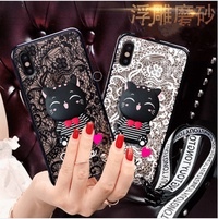 Oppo R11/R11 Plus/R11S/R11S Plus Lace Cat Case 24636