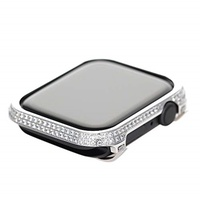 Callancity Callancity Metal Rhinestone Crystal Diamond Jewelry Bezel case Cover Compatible Apple Wat
