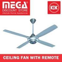 Kdk M56Sr 140Cm Ceiling Fan With Remote Silver No installation