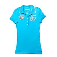 【現貨Aeropostale】AERO87夏威夷短袖POLO衫(土耳其藍)