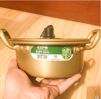 South Korea imported instant noodle pot noodle pot home thick yellow aluminum pot multi-function fast hot instant noodle pot ramen soup pot