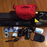 (二手)限面交Nikon D90單眼相機+配件