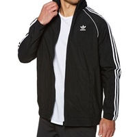 Adidas Originals 三葉草 風衣 薄外套  外套 帽子可收 黑色 CW1309