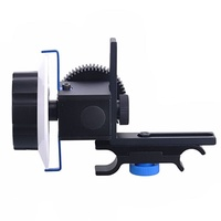 Quick Release Clamp DSLR Follow Focus FF with Adjustable Gear Ring Belt for 15mm Rod Rig 60D 600D 5D