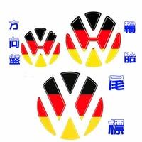 VW 國旗貼方向盤貼 輪胎貼 後車標貼 GTI polo golf tiguan Beetle passat 沂軒精品A0044