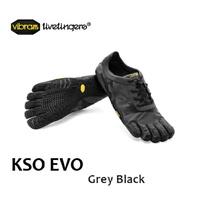 Vibram 五趾鞋 Vibram 五個手指男 KSO EVO 灰色/黑色男裝春季跑步健身 2015年的春夏季新 protocol