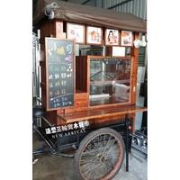 日式實木造型攤車 #造型三輪實木餐車 #復古攤車 #復古造型餐車