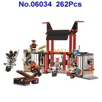 06034 262pcs Ninja Prison Breakout Samukai Lepin Building Block Compatible 70591 Brick Toy