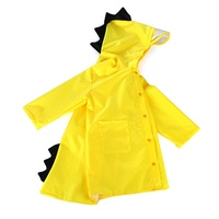 Cartoon Dinosaur Kids Raincoat Waterproof Hooded Rainwear Universal Windproof Poncho Kindergarten Bo