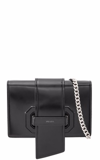 Prada Spazzolato Soft Calf Plex Ribbon Bag Sling