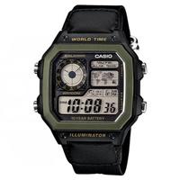 CASIO世界地圖十年電力數位錶(AE-1200/1300系列多色選)
