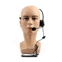 Areyourshop 5Pcs 4 Wired RJ9 Call Center Corded Operator Telephone Mic Headset Monaural Blk