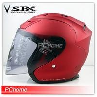 【SBK SUPER-R-PLUS 素色 3/4半罩安全帽 內襯全可拆】