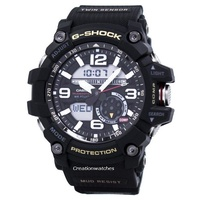 Casio G-Shock MUDMASTER Twin Sensor Men's Black Resin Strap Watch GG-1000-1A