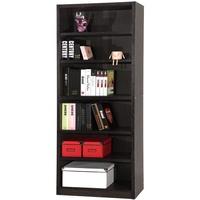【EASY HOME】六格厚板胡桃書櫃 收納櫃