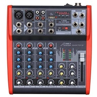 Audio2000S AMX7312 Professional Six-Channel Audio Mixer with USB and DSP Processor
