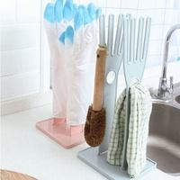 手套架-多功能手套瀝水架 橡膠手套 廚房 可拆卸 防燙手套 抹布 晾曬架 收納架【AN SHOP】