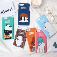 We Bare Bears Hard Phone Cases For iPhone [Free Delivery]
