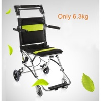 Yuwell 2000 Potable Folding travelling Wheelchair,Ultra LightWeight Transport Wheelchair for the elderly and Children - intl