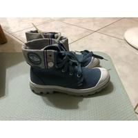palladium baggy lite cvs 帆布反折靴 淺藍色