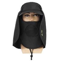 Outdoor Fishing Anti UV Cap Face Neck Flap Sun Rain Hat 360° Protection Hiking Hat
