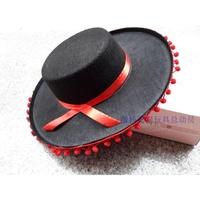 越南帽墨西哥草帽V字帽表演道具西部牛仔帽斗牛士帽子西班牙帽