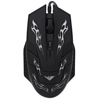RAJFOO I5 2400DPI 4 Button Multi Color LED Optical USB Wired Gaming Mouse