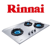 Rinnai RB-3SI 3 Burner Inner Flame Stainless Steel Built-in Hob