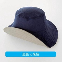 Women's UV sunshade sun hat summer big hat fisherman hat outdoor double-sided cap