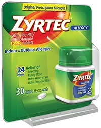 ▶$1 Shop Coupon◀  Zyrtec Allergy Tablets, 10 mg, 30 ct