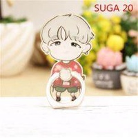 BTS Bangtan Boys SUGA Case 360 Degree Rotation Phone Ring Finger Buckle Stand Holder Cell Mobile Phone Stand Accessories Rings ZHK