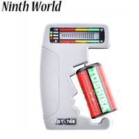 ninth world  digital battery tester  for testing 9v 1.5v c aa aaa normal alkaline rechargeable batte