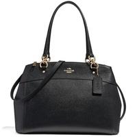 Coach Large Brooke Carryall Shoulder Crossbody Bag Handbag Black / Gold # F25926 + Gift Receipt