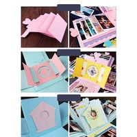 YD Birthday Party Explosion Surprise Gift Boxes Creative DIY Scrapbook Photo Album with Accessories Kit for Birthday Gift