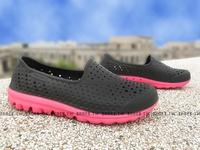 《下殺5折》Shoestw【86622LBKHP】SKECHERS 中童鞋 海灘鞋 H2GO 超軟Q底 黑桃紅 呼吸