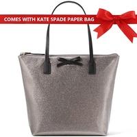 Kate Spade Mavis Street Jeralyn Shoulder Bag Handbag Anthracite Silver # WKRU3579 + Gift Receipt