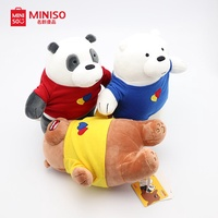 Miniso We Bare Bears with T-Shirt plush toys