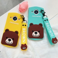OPPO R11S/R11S Plus/R11/R9/R9 Plus/R9S/R9S Plus Cartoon Bear case cover+Lanyard