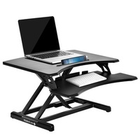 ModernLuxe Office Sit-Stand Desk Height Adjustable Standing Desk Desktop PC Computer Workstation Laptop Desk with Keyboard Tray