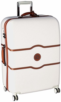 DELSEY Paris Delsey Luggage Chatelet Hard+, Large Checked Luggage, Hard Case Spinner Suitcase, Chapa