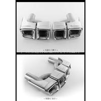 熱賣奔馳E260E280 E300L改E63方形四出AMG尾喉排氣管改裝W212尾喉