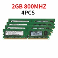 8GB 4GB 2GB DDR2 Computer RAM 800 MHz PC 2-6400 240 pin DIMM Desktop RAM สำหรับ micron