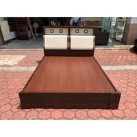 香榭二手家具*胡桃木貝殼風 標準雙人5尺床頭式床架-雙人床-排骨床-床組-床底-床箱-床頭箱-床頭櫃-中古床-寢具-二手