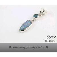 ∮和諧世界珠寶中心∮【Q191】澳大利亞蛋白石Australia Opal + 藍色拓帕石Blue Topaz