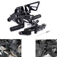 MZS Adjustable Rearsets Footrests CNC for Yamaha FZ09 FZ-09 MT09 MT-09 2013 2014 2015 2016 2017 2018/ XSR900 2016-2017 Black